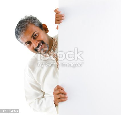 1048561956istockphoto Blank paper for advertisement. 177394374