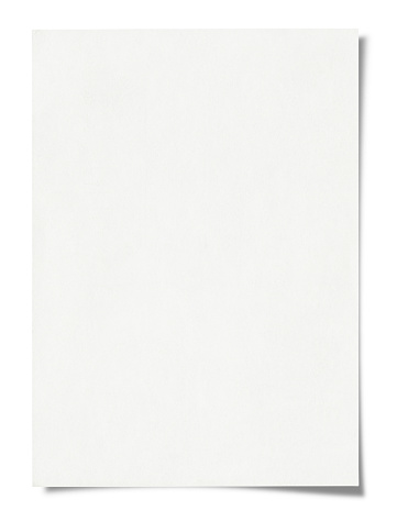 Blank paper isolated on white