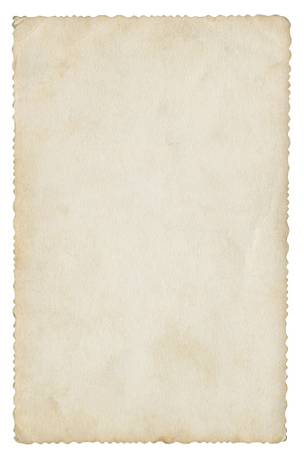 Blank paper isolated (clipping path included)
