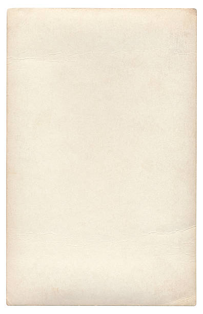 Blank paper isolated (clipping path included) stock photo