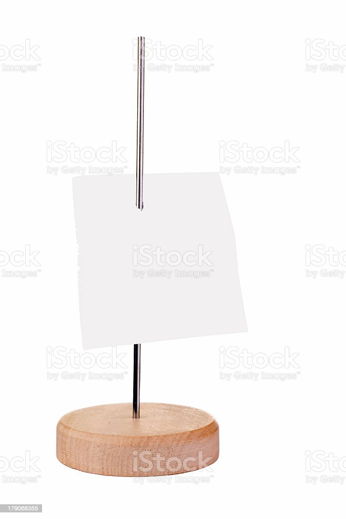 blank paper note royalty-free stock photo