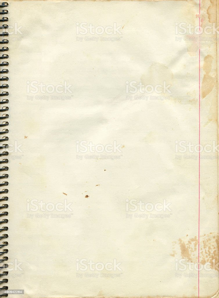 Blank Paper Page From Old Spiral Notebook Stock Photo More
