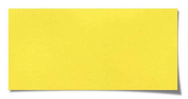 papel en blanco - amarillo color fotografías e imágenes de stock
