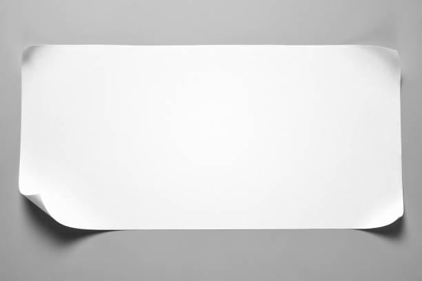 leeres papier schrott mit gewellten ecken - papierrollen stock-fotos und bilder
