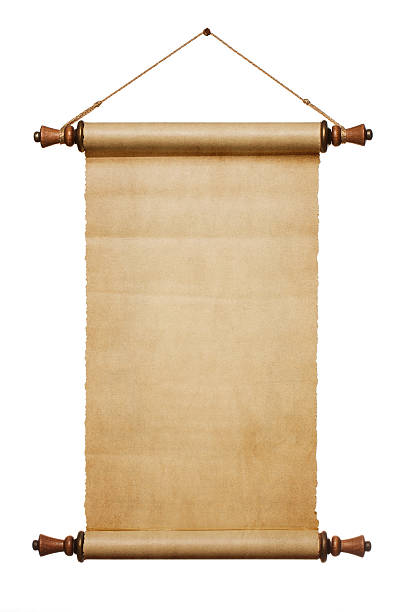 blank paper scroll - scroll stock photos and pictures