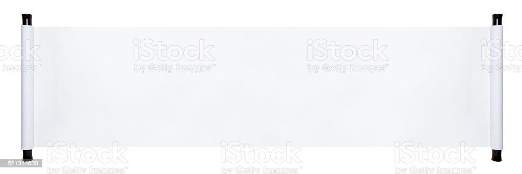 blank paper scroll stock photo