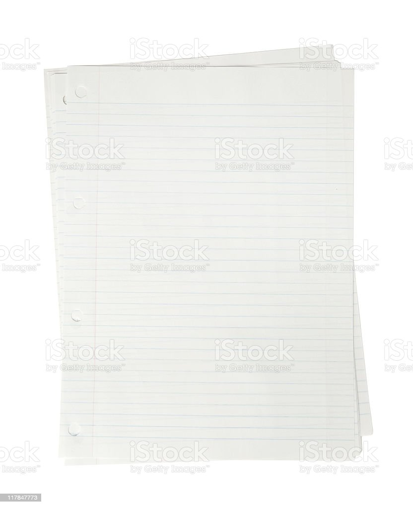 Blank paper sheet on white royalty-free stock photo