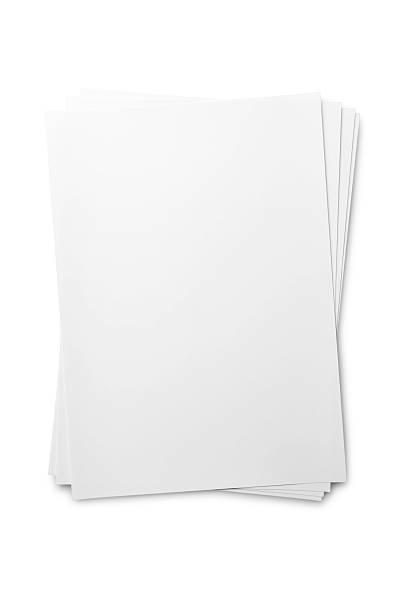 лист бумаги на белом - письмо документ стоковые фото и изображения