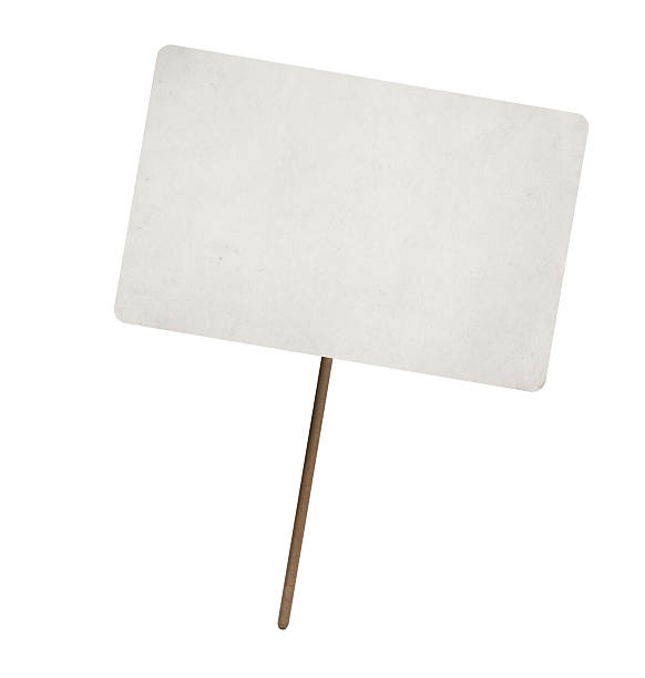 blank paper sheet on wooden stick blank paper sheet on wooden stick with copy space. Isolated stick plant part stock pictures, royalty-free photos & images