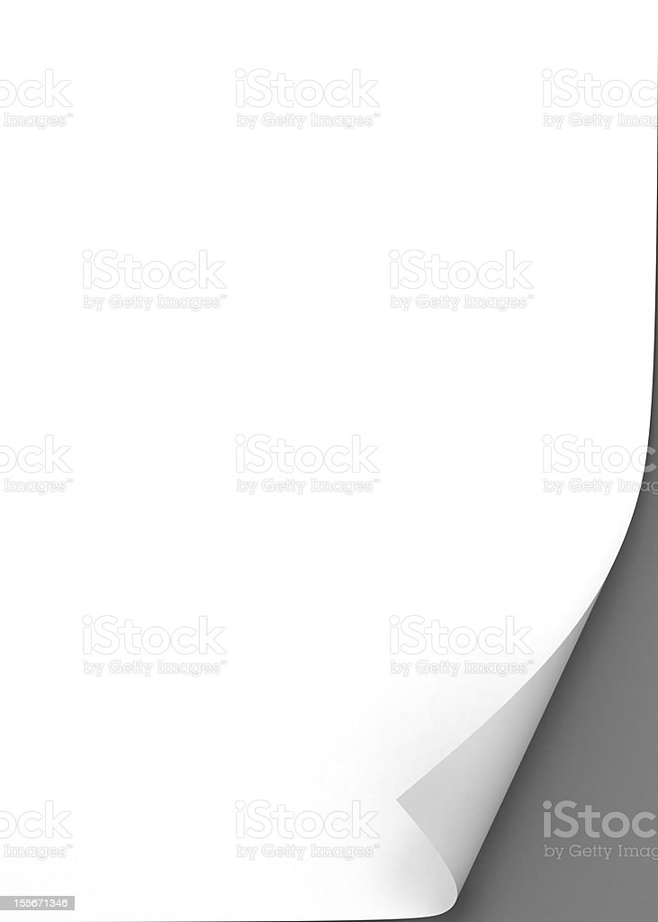 blank paper sheet stock photo
