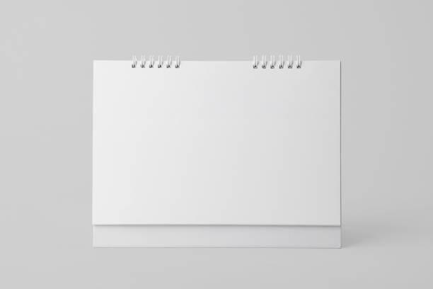 Blankopapier Spirale Kalender für Mockup Vorlage Werbung und branding-Hintergrund. – Foto
