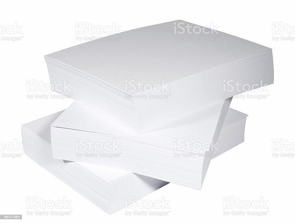 Blank paper stack stock photo