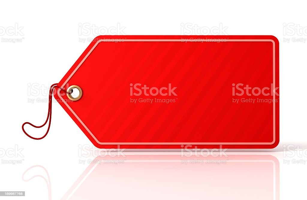 Blank paper tag isolated on white background stock photo