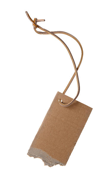 Blank paper tag isolated on white stock photo