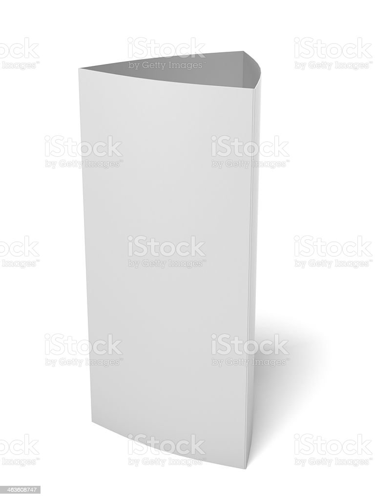 Blank paper triangle card royalty-free stock photo