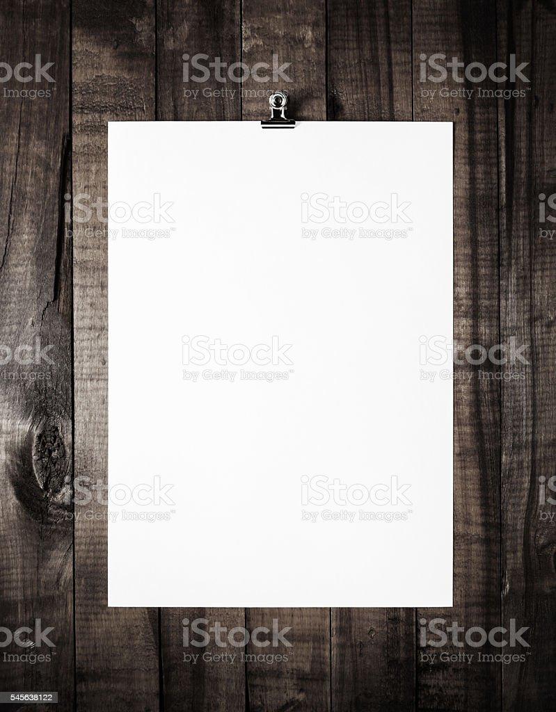 Blank paperwork template stock photo