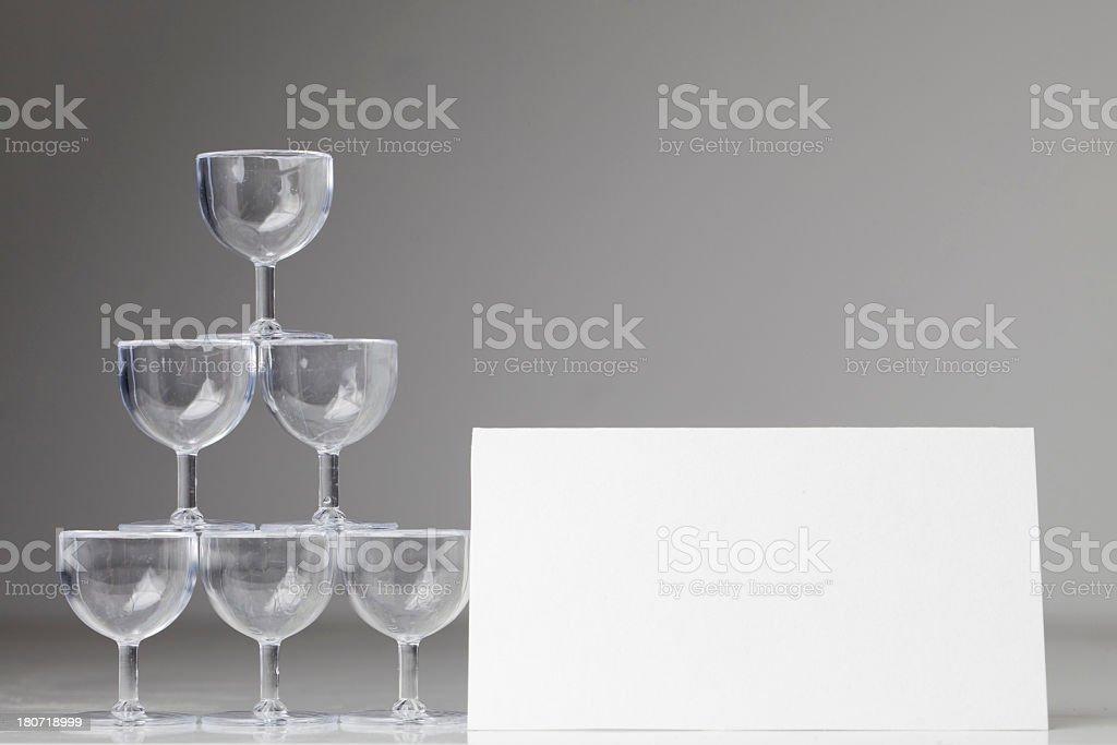 Blank party invitation royalty-free stock photo