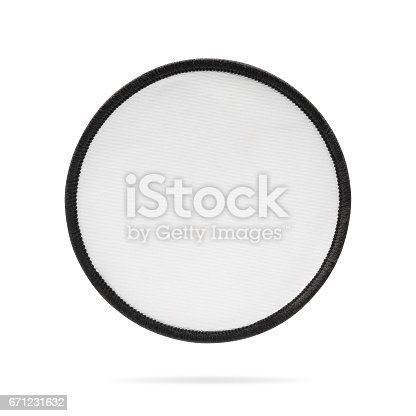 istock Blank patch or fabric label on isolated background. 671231632