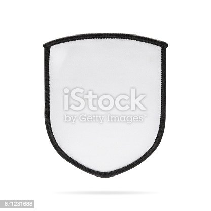 istock Blank patch or fabric label on isolated background. 671231688