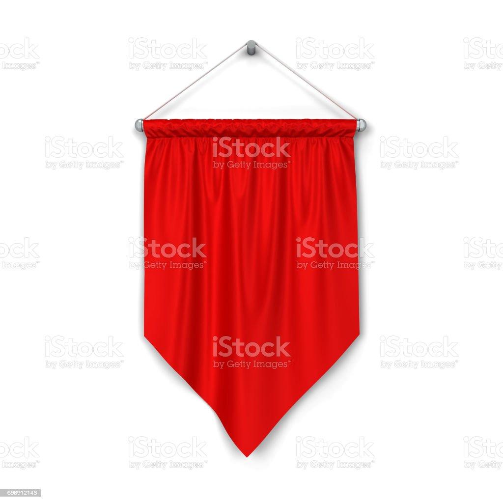 Blank pennant stock photo