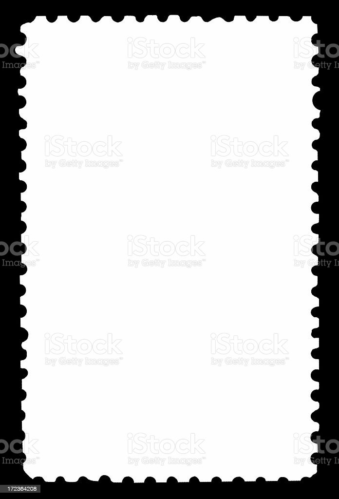 Blank Perforated Stamp Frame royalty-free stock photo