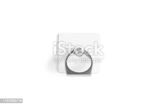 istock Blank phone finger grip lying mock up for smartphone, isolated 1157530716