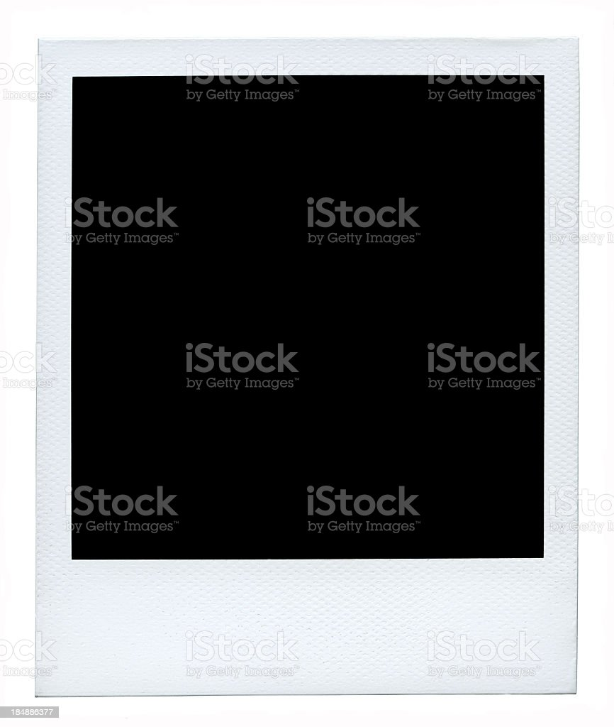 Blank photo (Authentic polaroid with lots of details) +54 Megapixels. stock photo