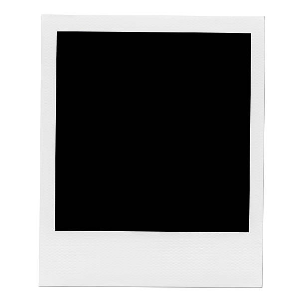 blank photo frame. - polaroid stockfoto's en -beelden