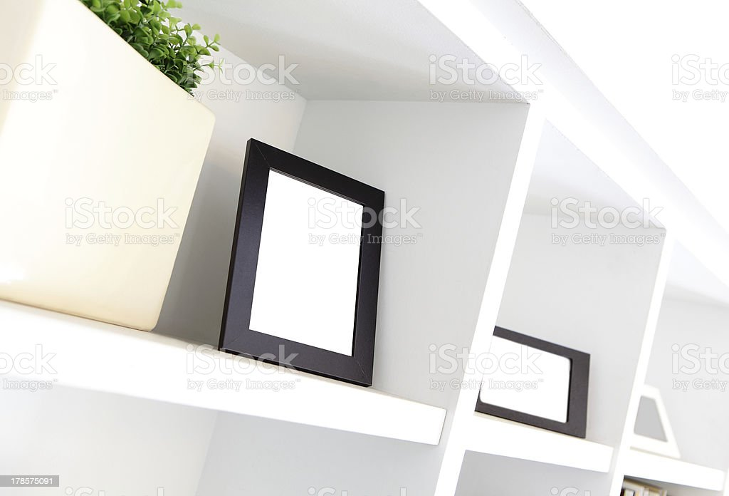 blank photo frame with copy space royalty-free stock photo