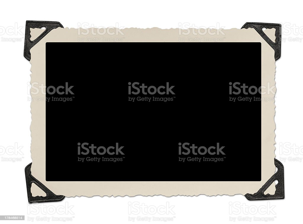 Blank photo frame with corner tabs royalty-free stock photo