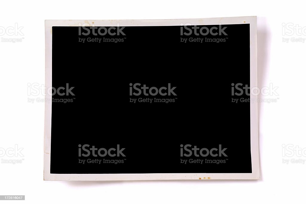 Blank Photo Frame with Shadow royalty-free stock photo