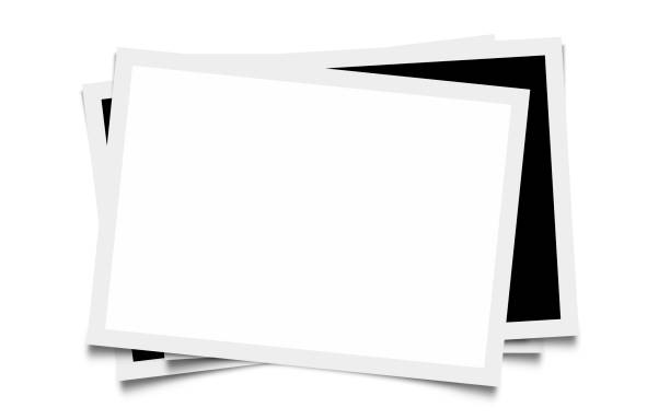Blank Photo Frames. Clipping Path Included for White Photo Space stock photo