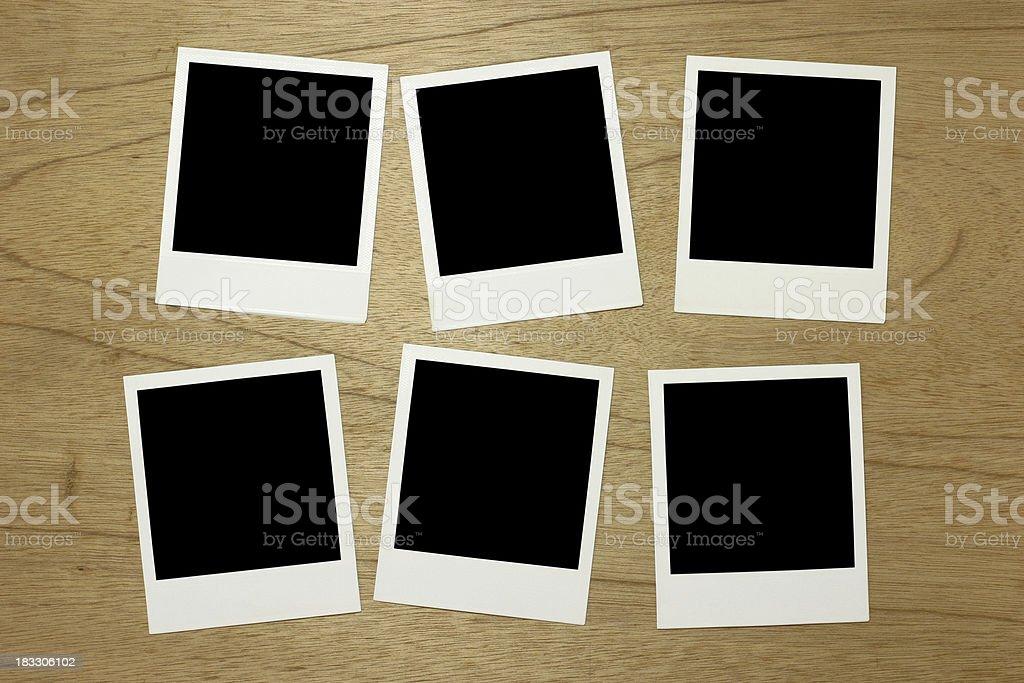 Blank photo frames royalty-free stock photo