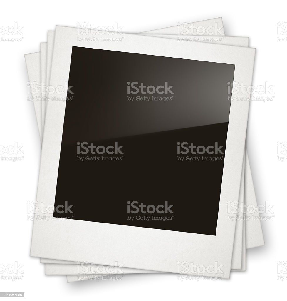 Blank photo frames with reflection stack stock photo