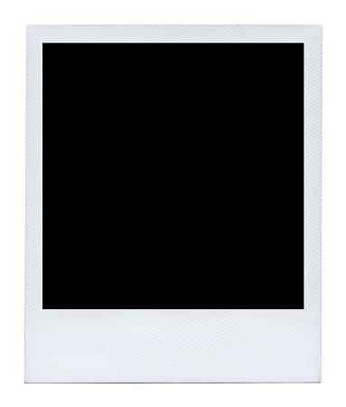 Blank photo isolated on white background.