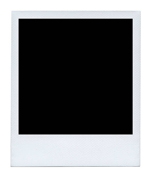 blank photo isolated on white background. - polaroid stockfoto's en -beelden