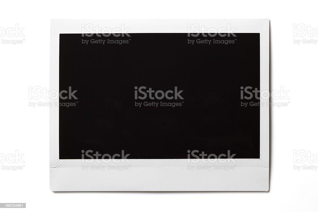 Leere Fotos auf Weiß - Lizenzfrei Bilderrahmen Stock-Foto