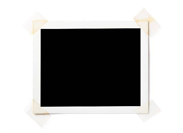 blank  photo on white - adhesive tape stock photos and pictures