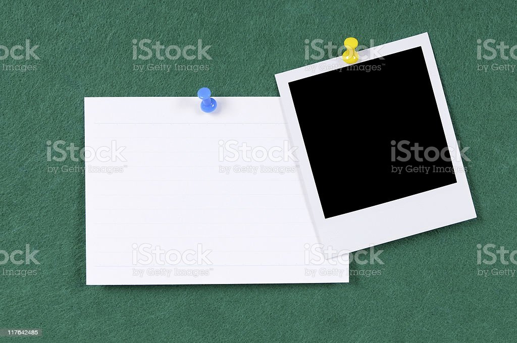 Blank photo print with index card royalty-free stock photo