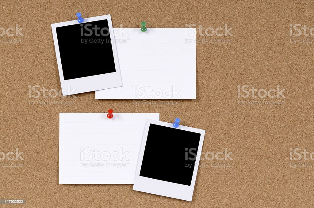 Blank photo prints with index cards royalty-free stock photo