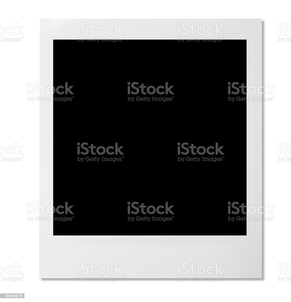 Blank photo template on white background stock photo