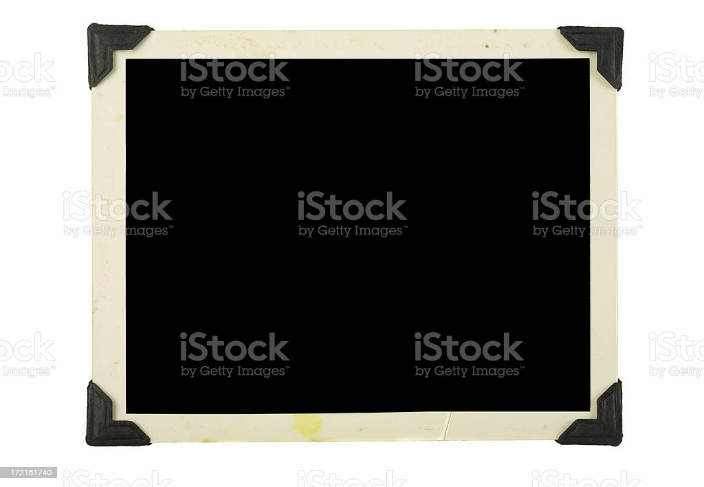Blank Photo with Corner Tabs royalty-free stock photo