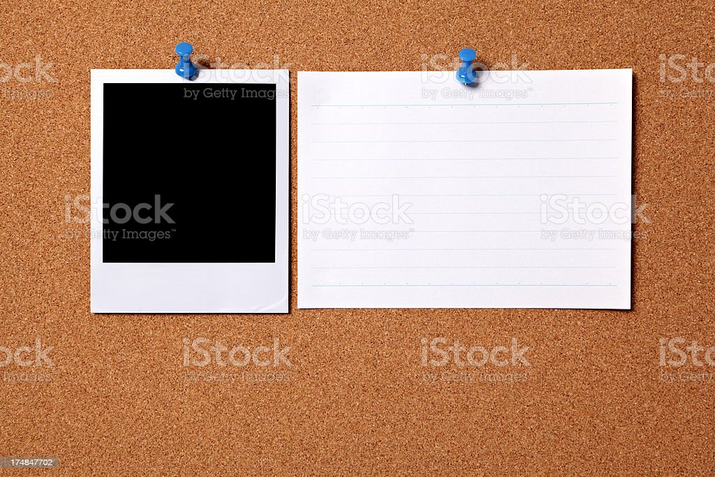Blank photo with index card stock photo