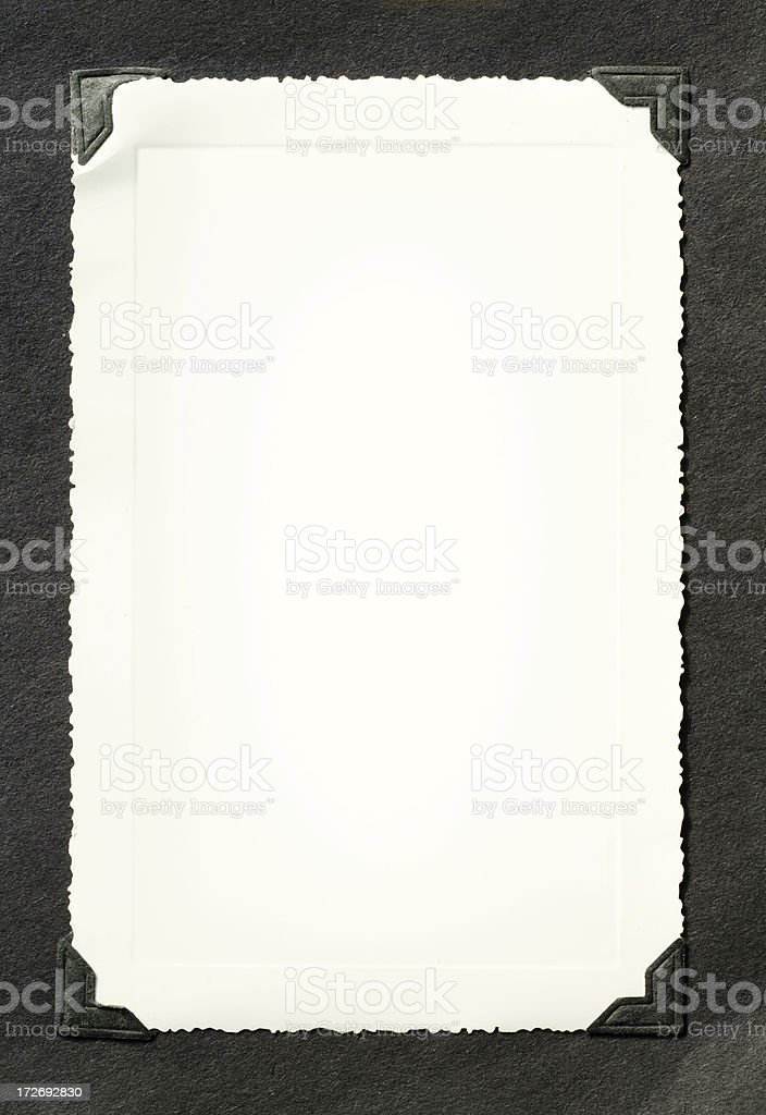 Blank photo with scalloped edges royalty-free stock photo