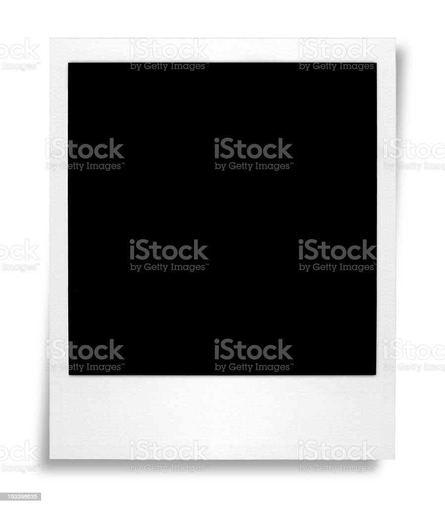 Blank photo with Shadow royalty-free stock photo