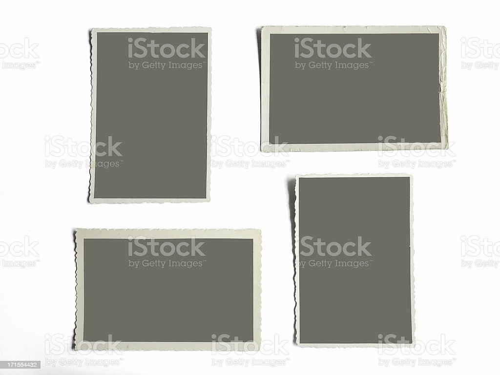 blank photoframes stock photo