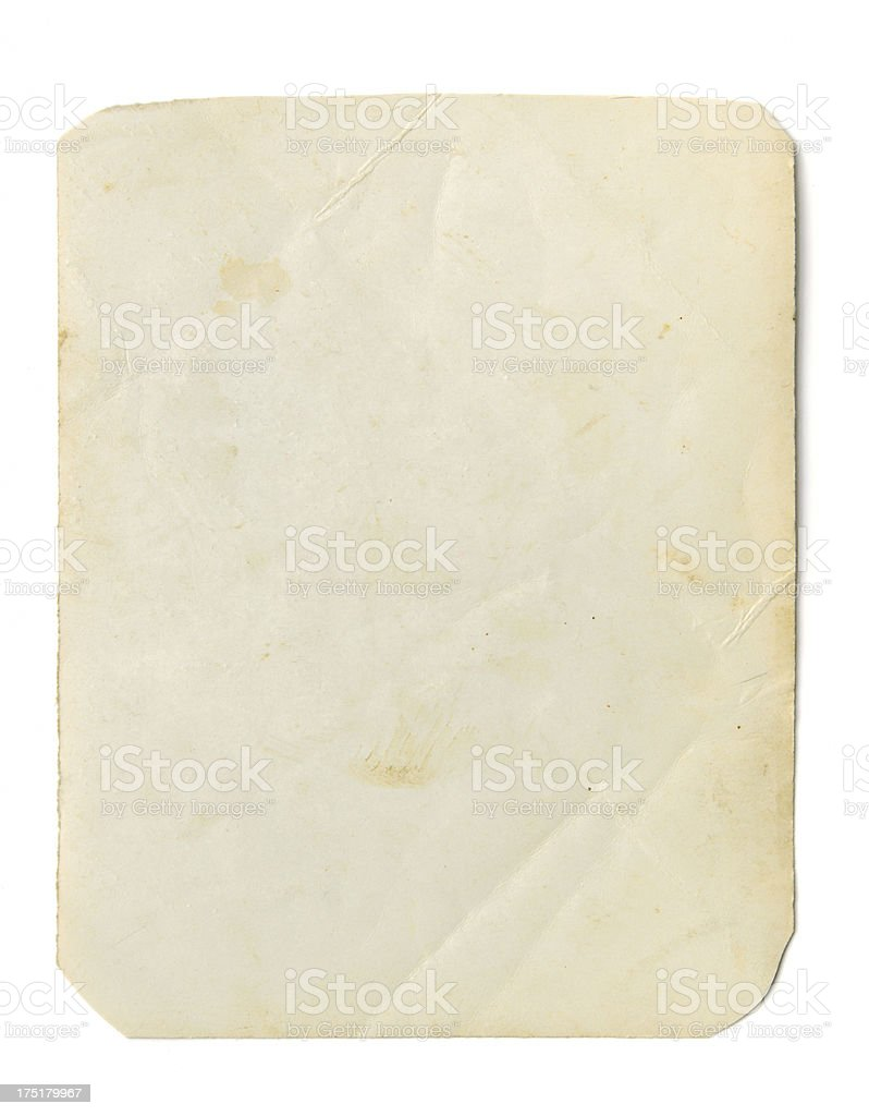 Blank photograph frame stock photo