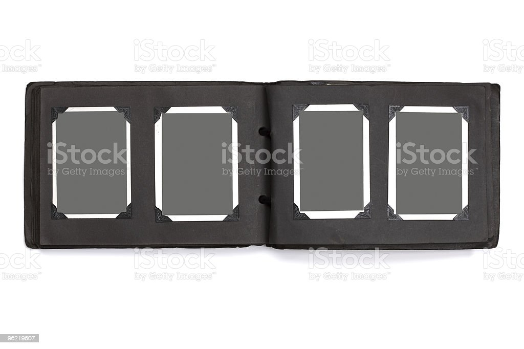 Blank photographs in a vintage photograph album royalty-free stock photo