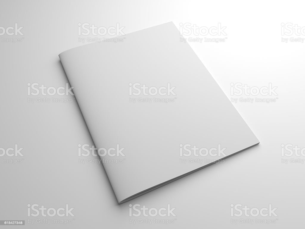Blank photo-realistic 3D rendering magazine or brochure stock photo