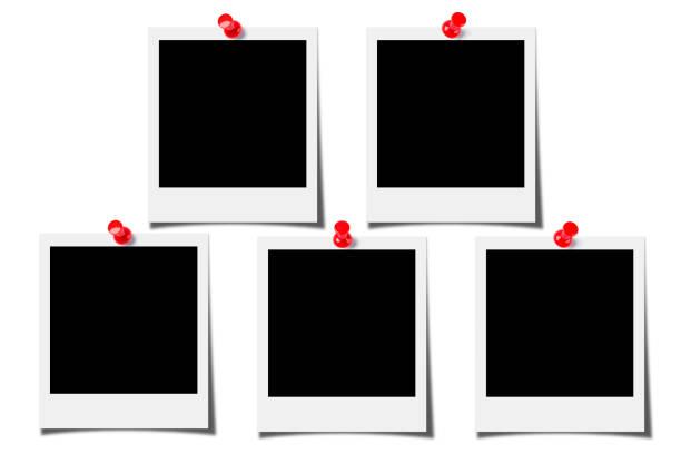 Blank photos isolated on white background stock photo